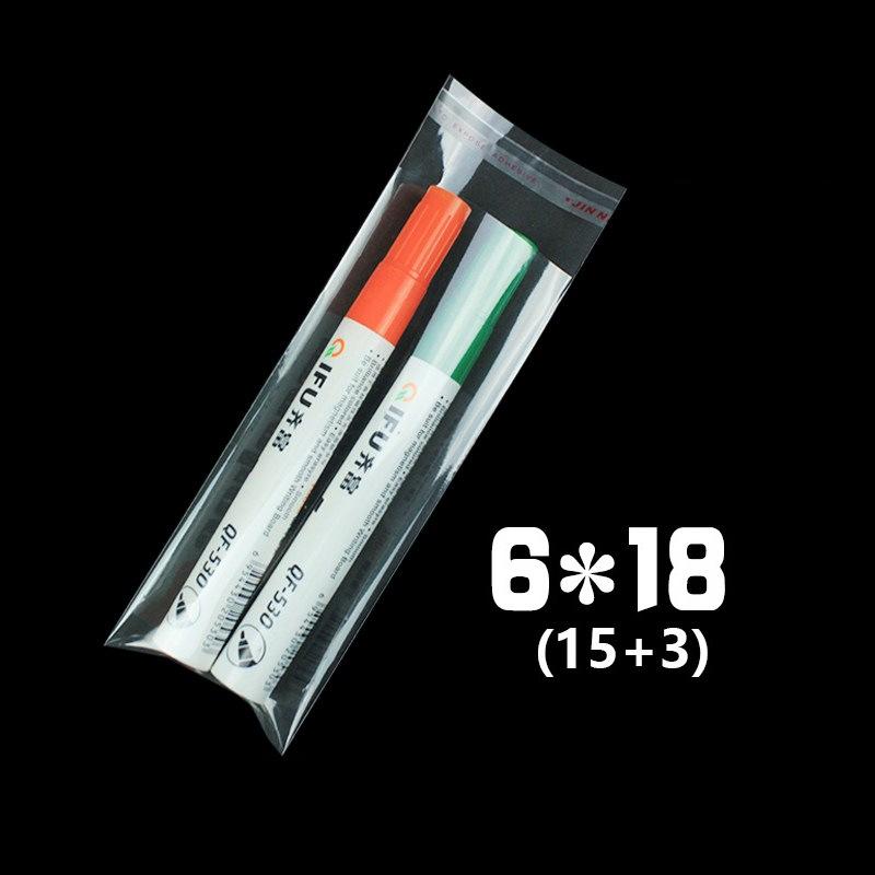 CHENYI Túi opp Đánh dấu tại chỗ túi đóng gói trong suốt túi tự dính 7 túi nhựa opp 6 * 18 bán buôn 1