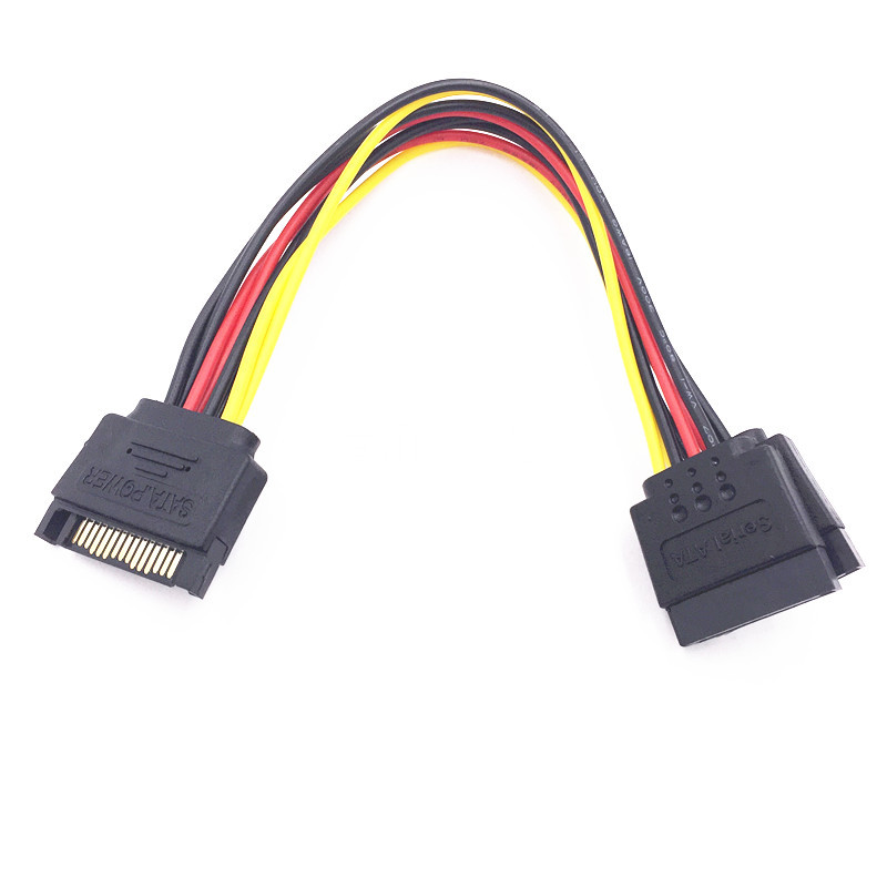 Dây nguồn Cáp SATA một điểm hai nguồn Ổ đĩa cứng SATA một điểm hai cổng nối tiếp một đến hai 15PIN m