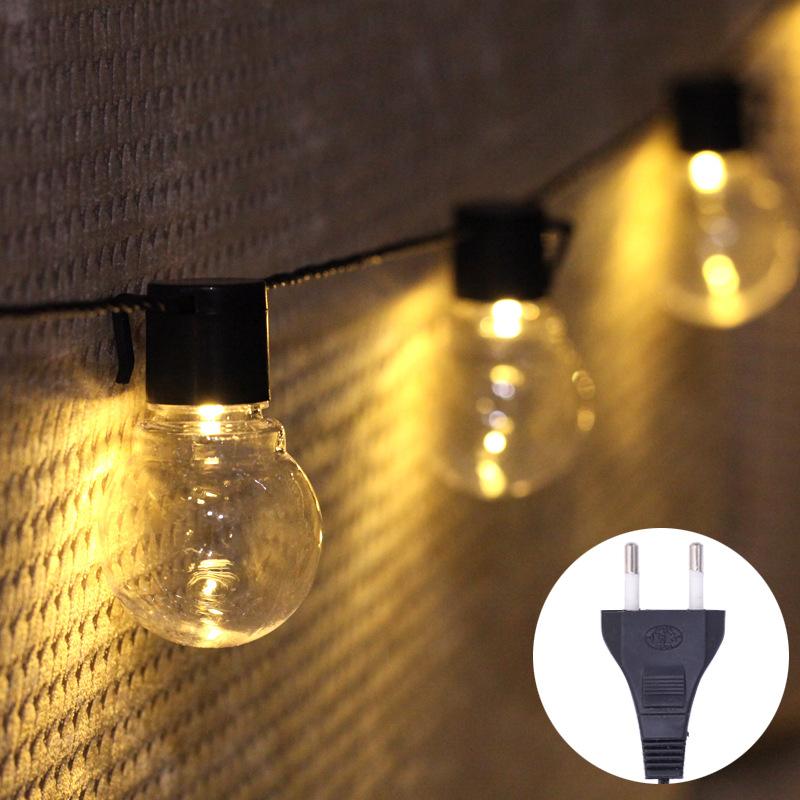 Đèn trang trì LED ánh sáng chuỗi bóng ánh sáng dây ánh sáng ngoài trời trang trí không thấm nước Hol