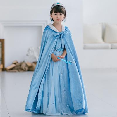 XIMENGZI Áo choàng trẻ em 19 mô hình vụ nổ Halloween cô gái áo choàng lớn áo choàng lạnh và khí chất