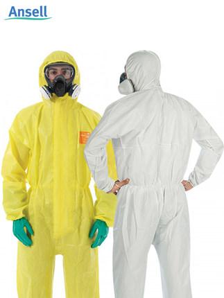 ANSELL Quần áo bảo hộ Xiêm cơ thể thí nghiệm hóa học chống axit và kiềm quần áo làm việc phun sơn ch