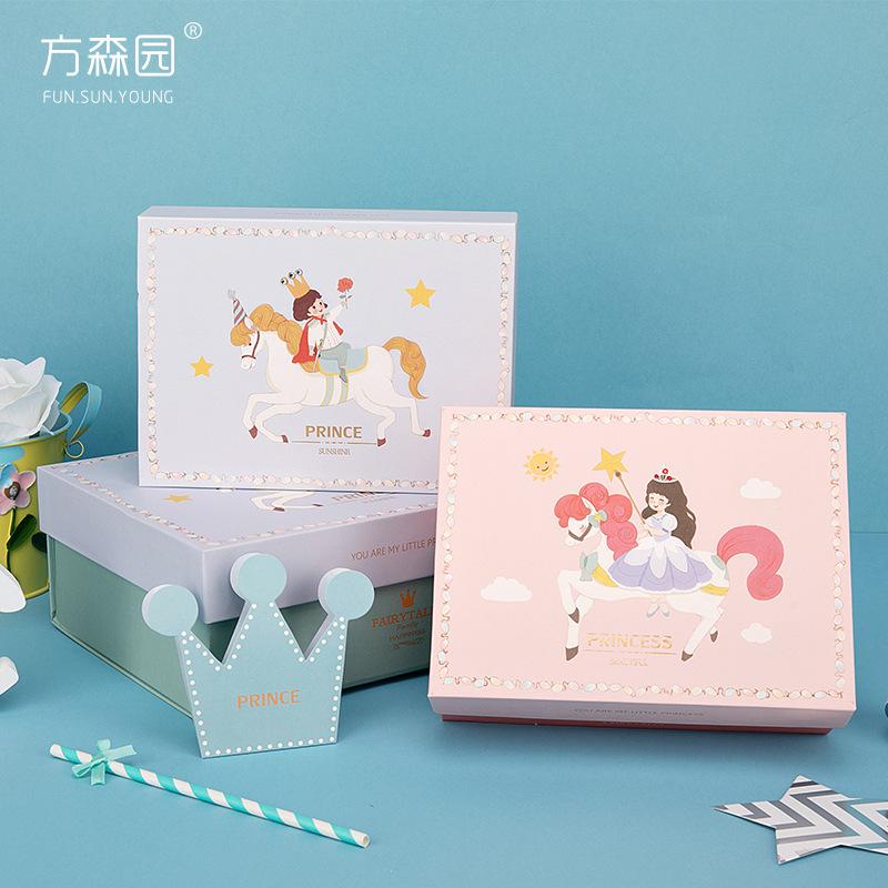 FUN.SUN.YOUNG Hộp quà tặng Fang Senyuan Prince Princess quần áo trẻ em cao cấp tinh tế hộp quà tặng