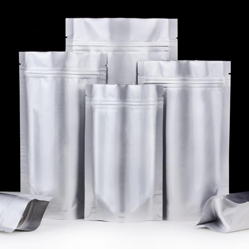 SHUANGFU Túi đứng Nhôm nguyên chất tự hỗ trợ túi ziplock cao cấp nhôm lá kín túi nhỏ đục mờ thực phẩ