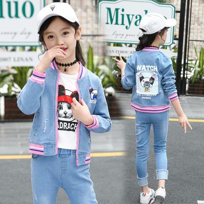 XXNH Đồ Suits trẻ em Quần áo trẻ em phiên bản Hàn Quốc 2020 trẻ em mới mùa xuân và mùa thu denim phù