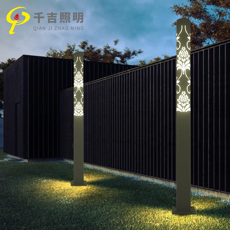 QIANJI Đèn LED sân vườn Đèn sân vườn Trung Quốc tùy chỉnh Cảnh quan biệt thự 3,5m Đèn sân vườn ngoài
