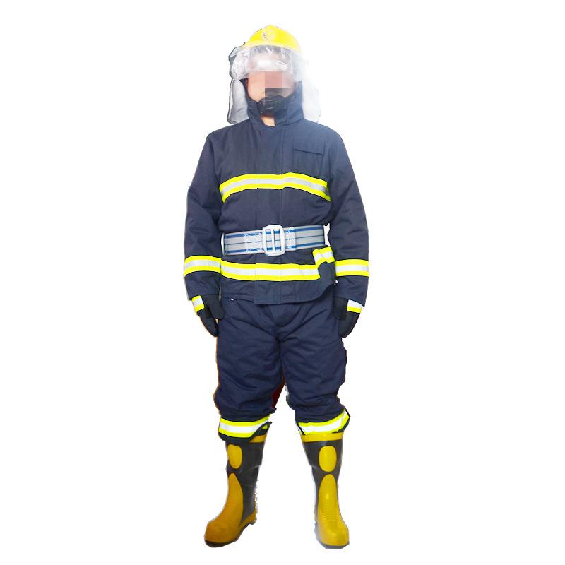 Yunyang Trang phục chống cháy chữa cháy 02 dày năm mảnh chữa cháy quần áo chữa cháy quần áo chống ch