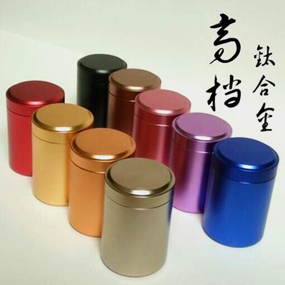KAERHUI Hũ kim loại Bán buôn trà Canister Tin Can Box Kim loại Mini Hợp kim Titan nhỏ Nhôm có thể In