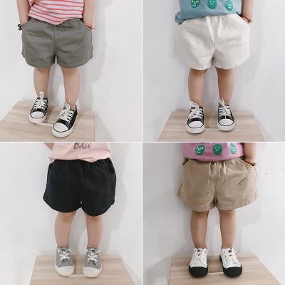 QINBEILE Quần trẻ em Quần short trẻ em 2020 Phiên bản Hàn Quốc cho bé trai và bé gái mùa hè quần cot