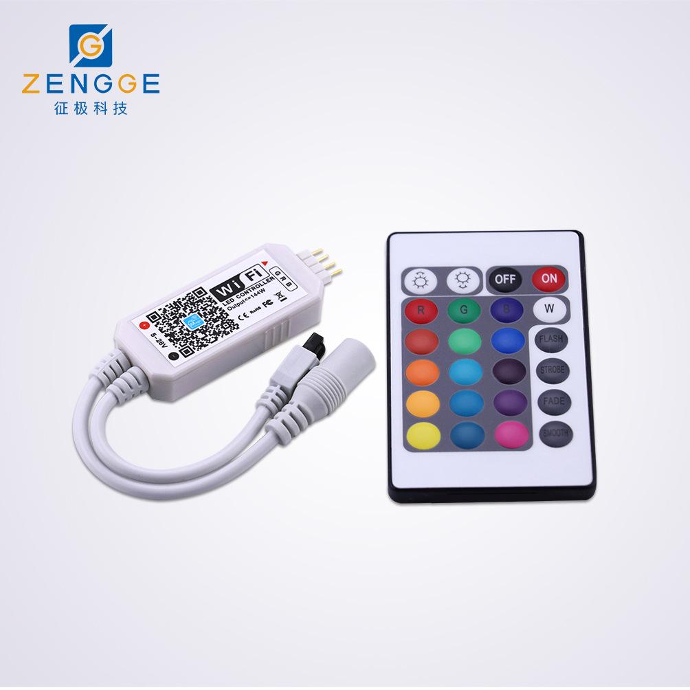 XINERDA Công tắc điều chỉnh độ sáng Mini WIFI + Bộ điều khiển RGB 24 phím hồng ngoại Điều khiển từ x