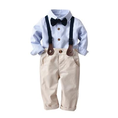 ZHENGPING Đồ Suits trẻ em Mùa xuân và mùa thu mới cho trẻ em phù hợp với trẻ em Phong cách châu Âu v