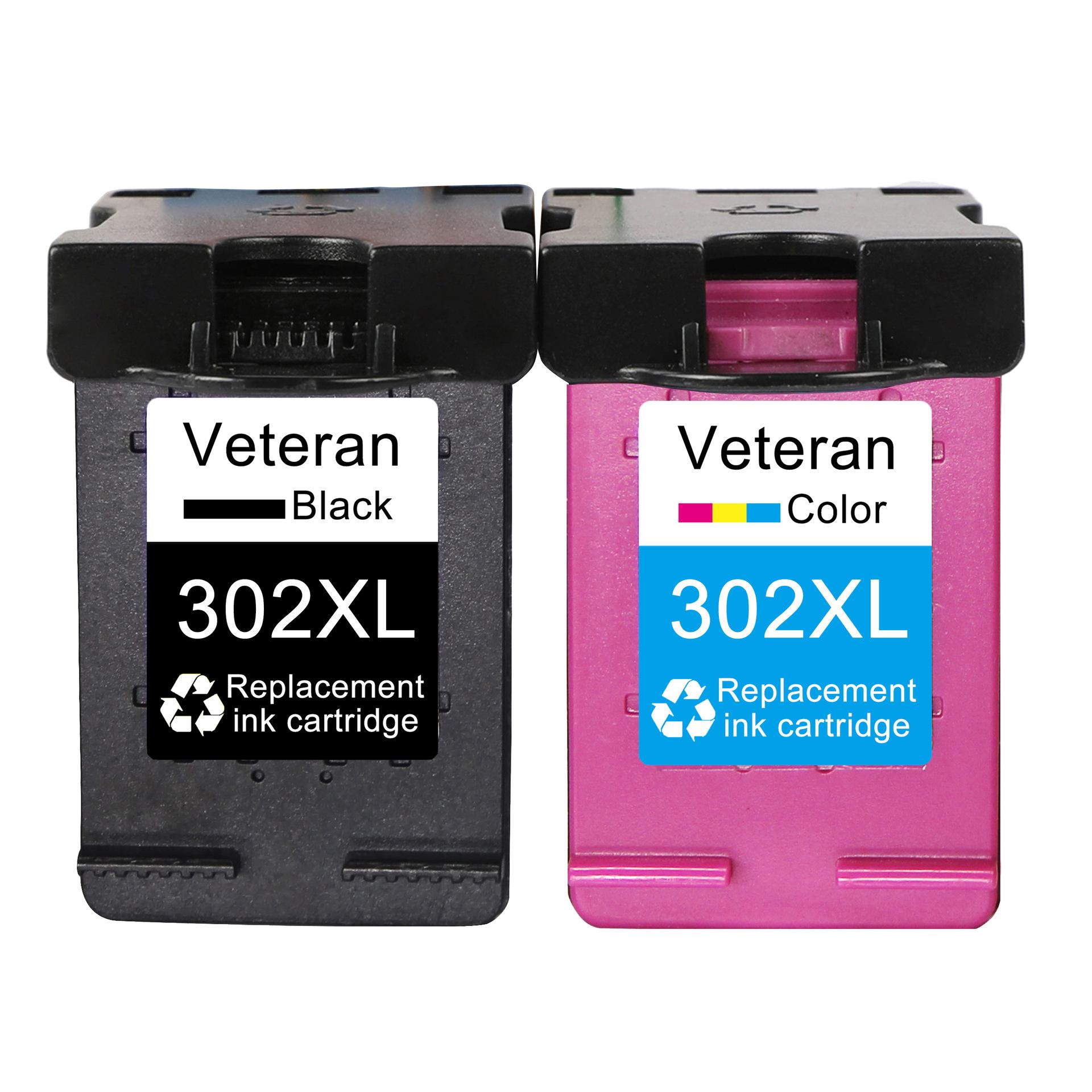 Veteran Hộp mực nước Màu in tương thích với hộp mực HP302 XL Máy in HP1000 1050 1510 4500 450 4504