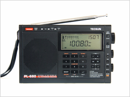 Desheng Máy Radio  Đài phát thanh Desheng PL-680 cầm tay độ nhạy cao đầy đủ băng tần điều chỉnh kỹ t