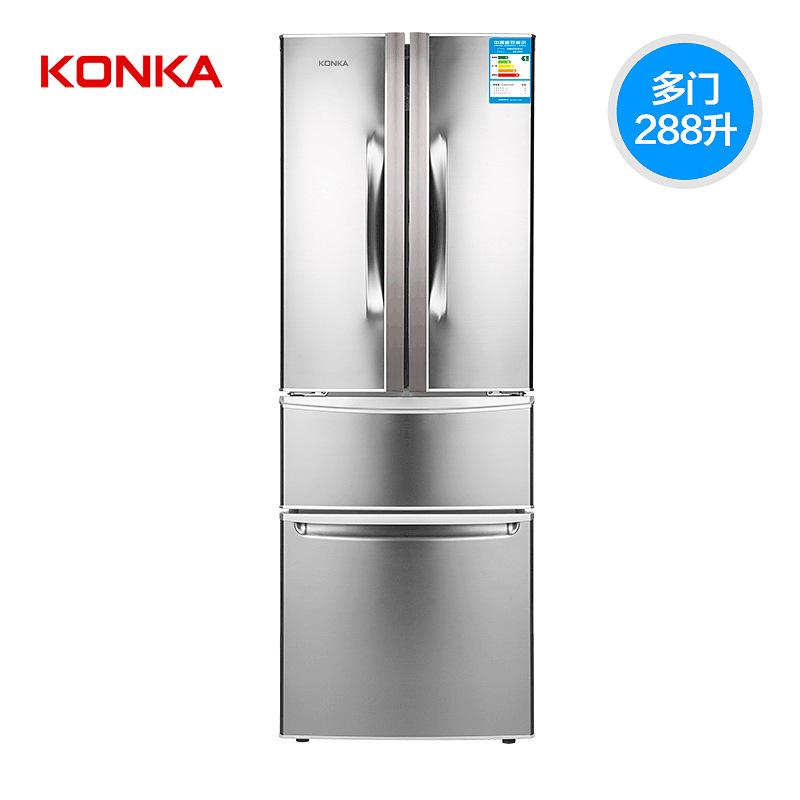 KONKA Tủ lạnh Kangshu BCD-288GY4S tủ lạnh nhiều cửa tiết kiệm năng lượng nhỏ đôi cửa ba cánh tủ lạnh