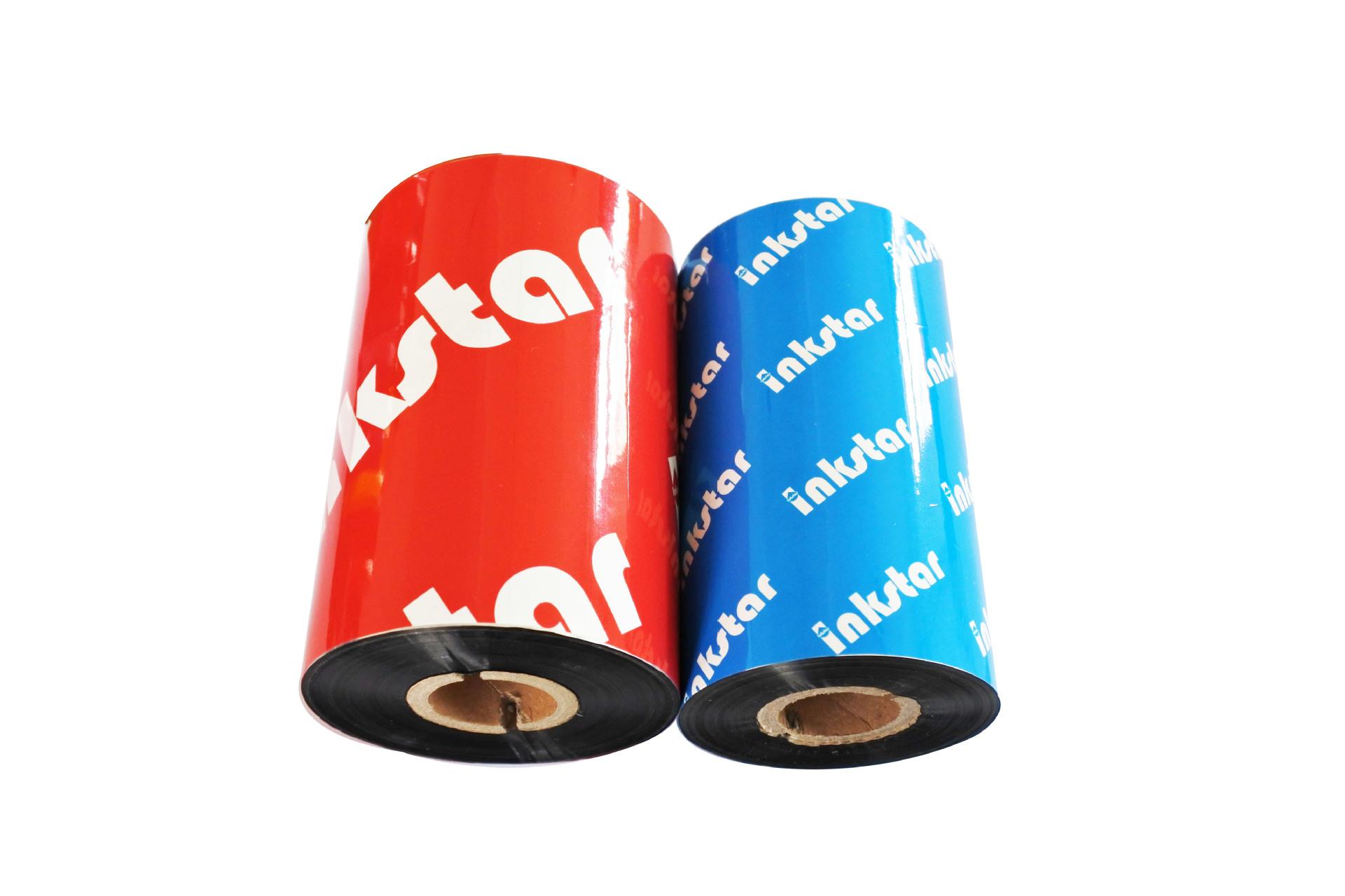 Ruy băng than PET / PVC tự dính in tất cả ruy băng truyền nhiệt dựa trên nhựa 110 * 300 băng chống t