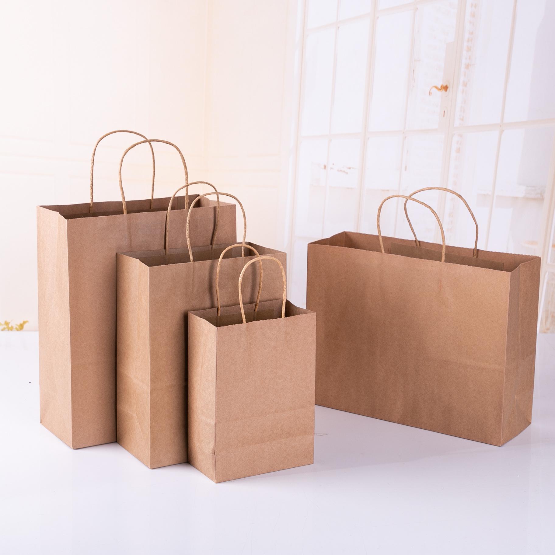 DAHONG Túi giấy Nhà sản xuất dày giấy túi xách tay tại chỗ bán buôn kẹo màu giấy kraft túi tùy chỉnh