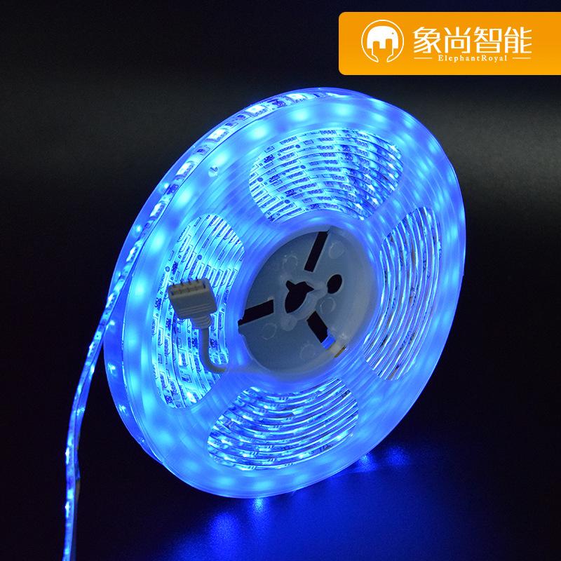 XIANGSHANG Đèn LED dây 5050 vành đai đèn WiFi đầy màu sắc vành đai đèn LED phẳng đèn APP điều khiển