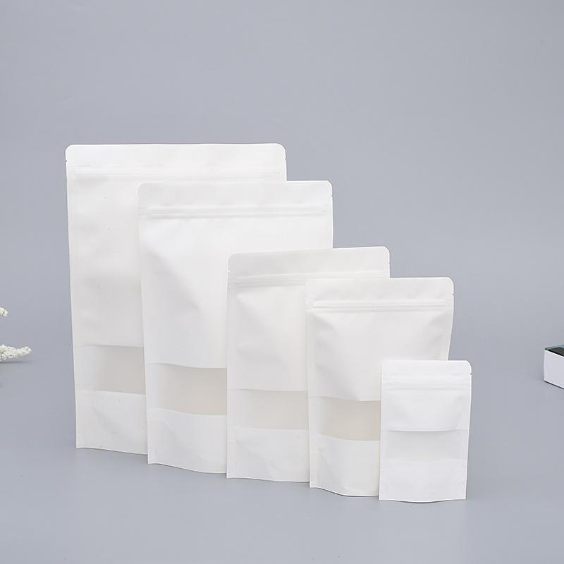 YILEI Thị trường bao bì khác / bao bì vải / bao bì giấy Mở cửa sổ túi giấy trắng kraft đứng lên dây