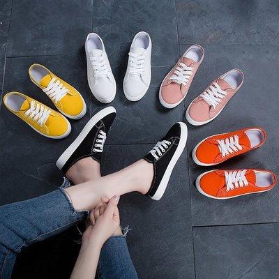 Giày thể thao đế bệt hở gót kiểu dáng trẻ trung cho nữ .