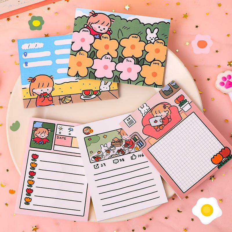 ZHANMU Giấy note Hàn Quốc ghi chú trong phim hoạt hình sinh viên notepad cuốn sách tài khoản tay sti