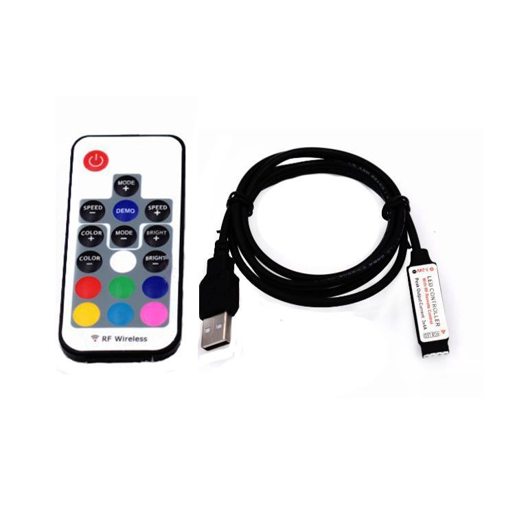 GYC Công tắc điều chỉnh độ sáng Bộ điều khiển thanh ánh sáng LED RF17 không dây RF USB dimmer 5V RGB