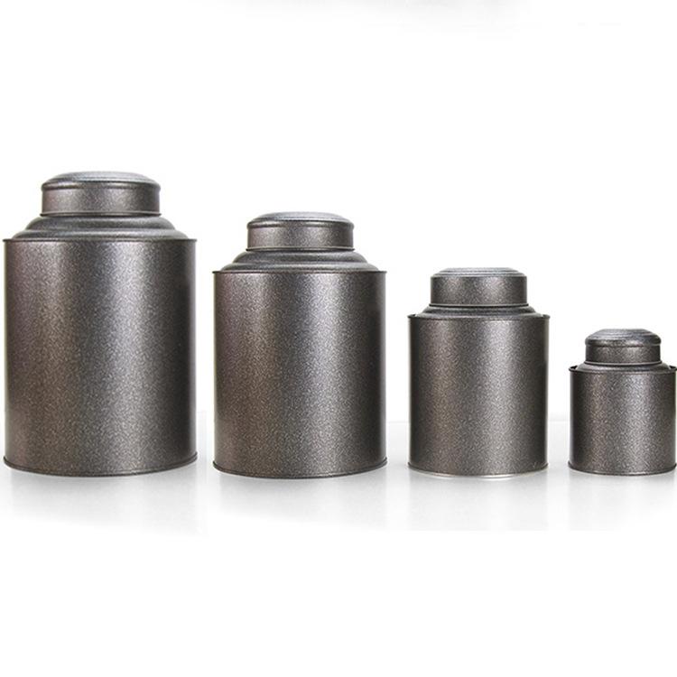Hũ kim loại Thiếc thiếc hộp trà tròn đóng gói phổ kín trà thiếc kim loại hộp thiếc hộp quà tặng puer