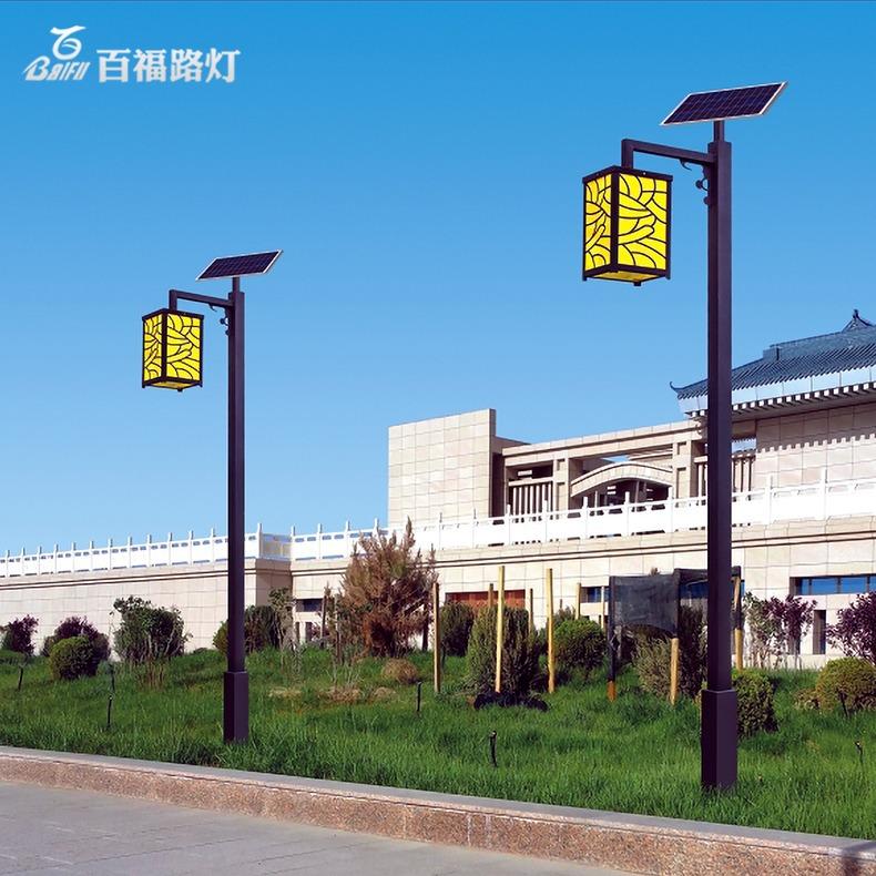 BF Đèn LED sân vườn Tùy chỉnh đèn năng lượng mặt trời sân vườn ngoài trời hiện đại cổ Trung Quốc đèn