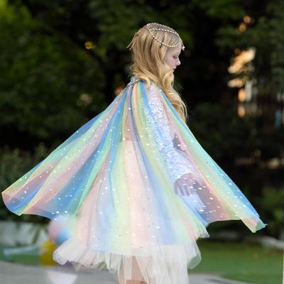 Áo choàng trẻ em Ngày của trẻ em Ngày của trẻ em Sợi áo choàng Trẻ em Trang phục khăn choàng Cô gái
