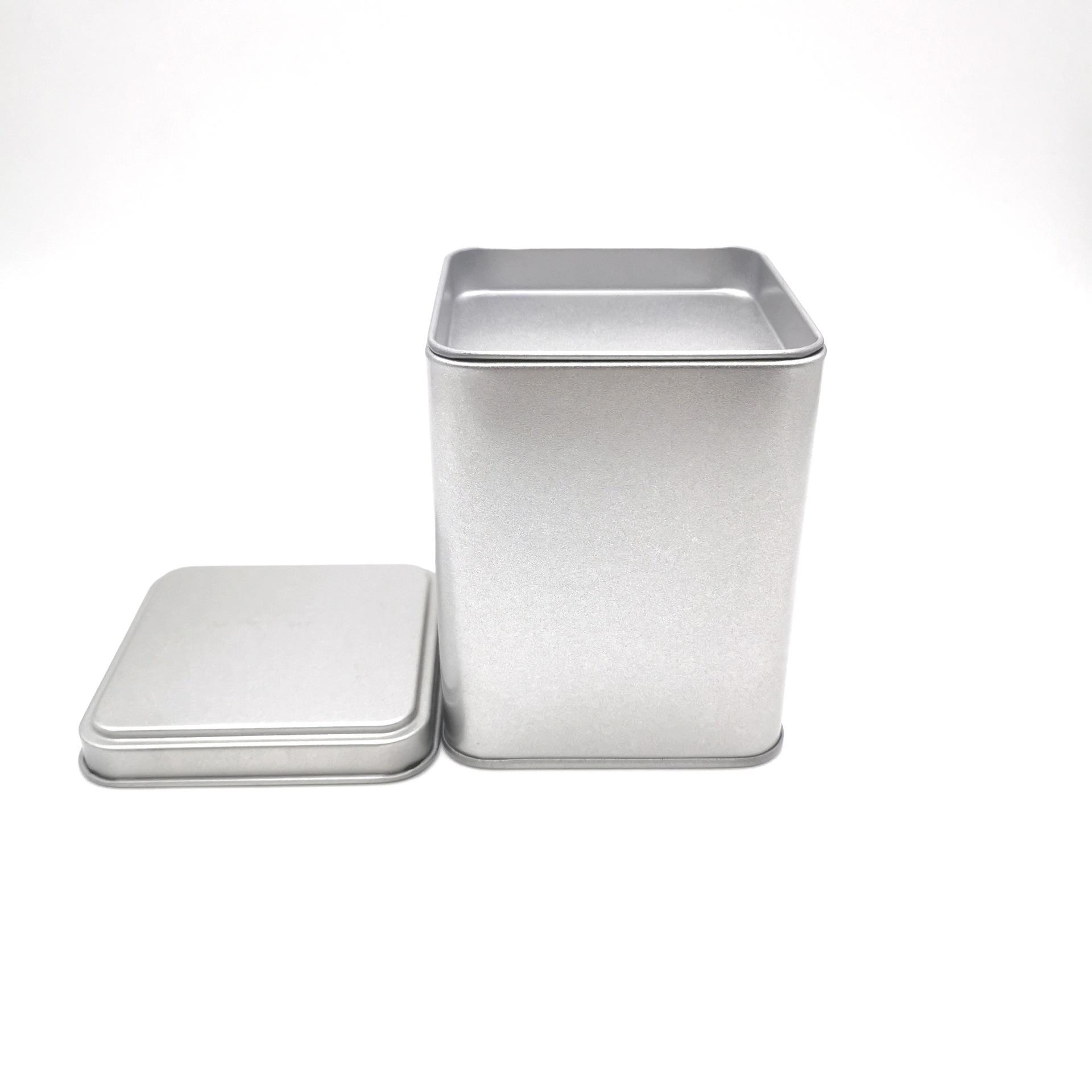 Hũ kim loại Hộp trà vuông hộp đồ lót hộp trà hoa trà có thể kim loại hộp thiếc thiếc hộp tùy chỉnh h