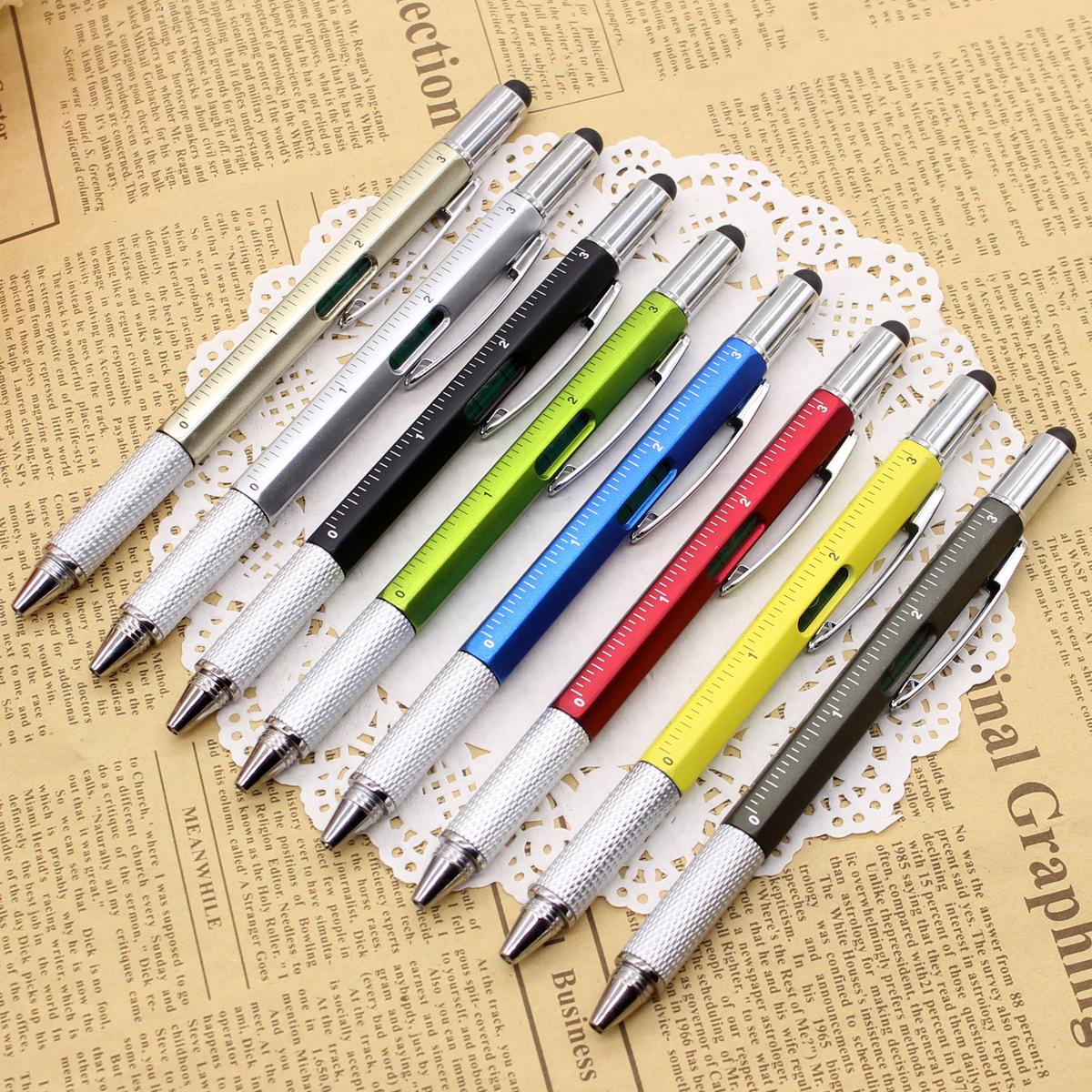 YINGGUO Bút bi Đa chức năng tuốc nơ vít công cụ caliper tinh thần mức độ bút bi quảng cáo điện dung