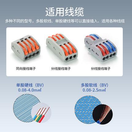 Hộp phân phối cáp  2 3 4 5 đầu nối dây đa năng 2 trong 2 ra 3 trong 3 ra bộ chia khối đầu nối nhanh