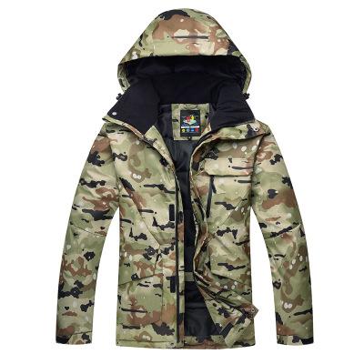 ARCTIC QUEEN Áo nguỵ trang lính Mới trượt tuyết nam mùa đông ngoài trời không thấm nước gió ấm Quần