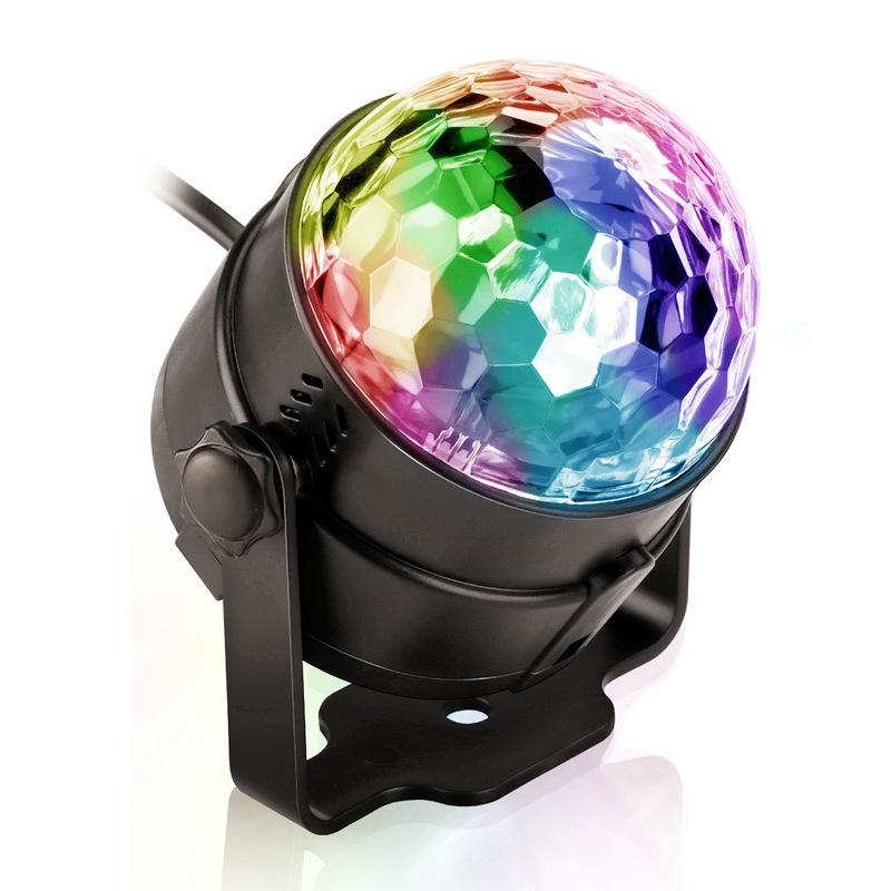 Đèn sân khấu Điều khiển từ xa Magic Ball LED Đèn sân khấu mini RGB Điều khiển từ xa Ánh sáng xoay đầ
