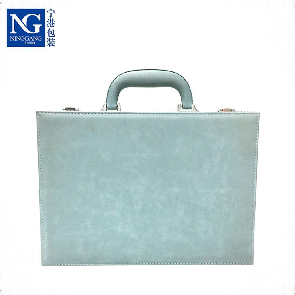 NINGGANG Hộp da Nhà sản xuất tùy chỉnh PU giao phòng hành lý bất động sản mở thông tin quan trọng hộ