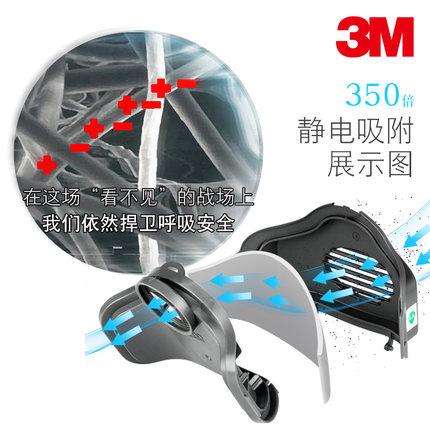 3 m Mặt nạ phòng chống khí độc  Mặt nạ chống bụi silicon  chống bụi mặt nạ chống công nghiệp bụi xám