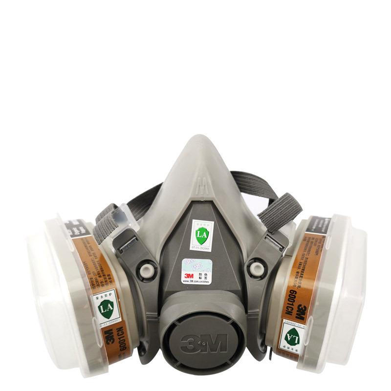 3M Mặt nạ phòng chống khí độc 6200 mặt nạ phòng chống khí chống formaldehyd chống hữu cơ phun sơn ch
