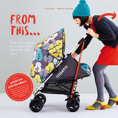 COSATTO Xe đẩy trẻ em COSATTO SUPA có thể ngồi và nằm nhẹ ô gấp ô tô cửa hàng hàng đầu ở nước ngoài
