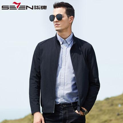 Seven7 Áo khoác thương hiệu Qi 2020 mùa xuân mới trung niên nam kinh doanh bình thường mùa xuân và m