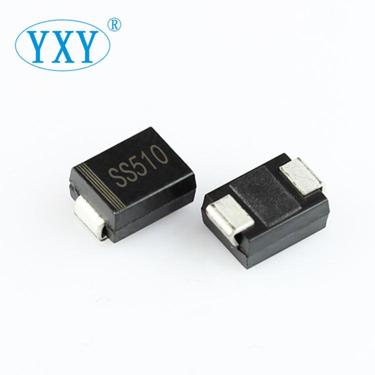 YIPINYUAN Điốt bán dẫn Nhà máy trực tiếp SS510 SMB gói SR5100 DO-214AA SMD Schottky diode