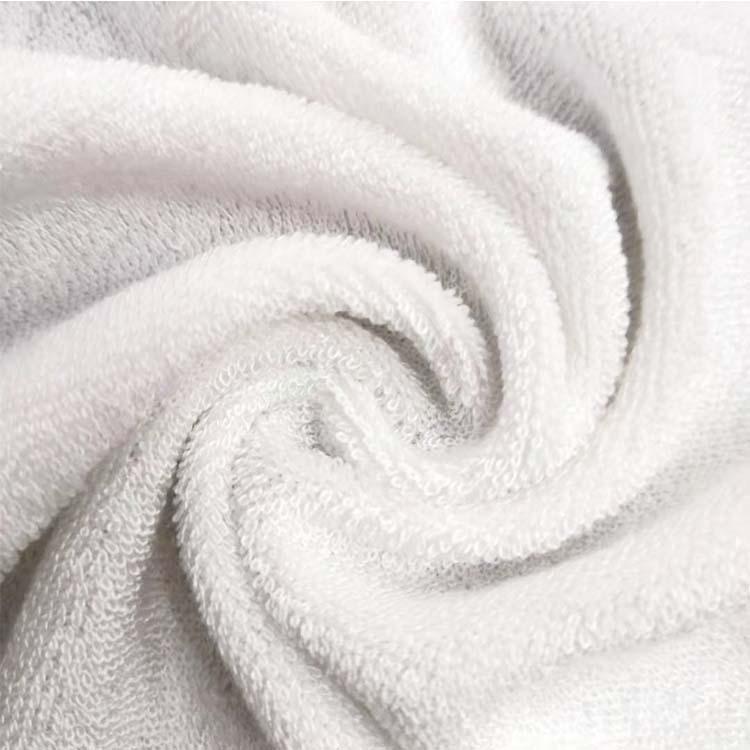 TIANRUI Vải khăn lông Nhà máy cung cấp khăn sợi tre vải trắng sợi nhỏ siêu mềm vải nhà vải