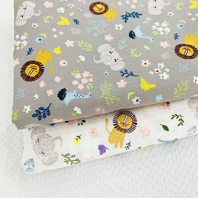 Vải Chiffon & Printing Little Lion In Vải Hàn Quốc Vải Pajama Vải