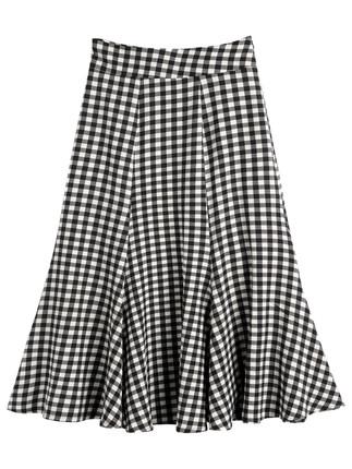 váy  Đầm xòe đuôi cá cạp cao ở phần dài phù hợp với phần đùi dày cúp ngực bm Váy kẻ sọc hè dài