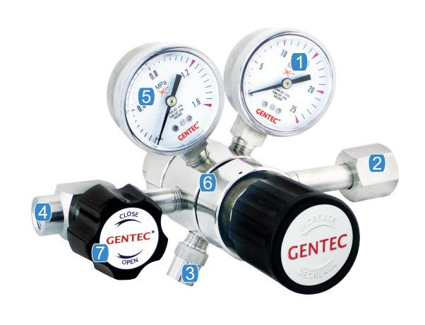 GENTEC Đồng hồ đo áp suất Hoa Kỳ Jie Rui GENTEC R31BMK-DIW-00-00 mạ điện giảm áp hai giai đoạn