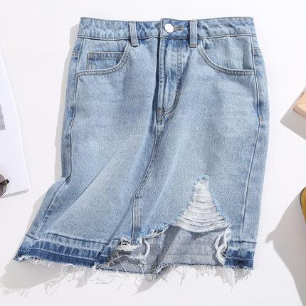 Jeanswest váy Zhenweisi của phụ nữ mùa hè 2020 mới váy không định vị váy denim