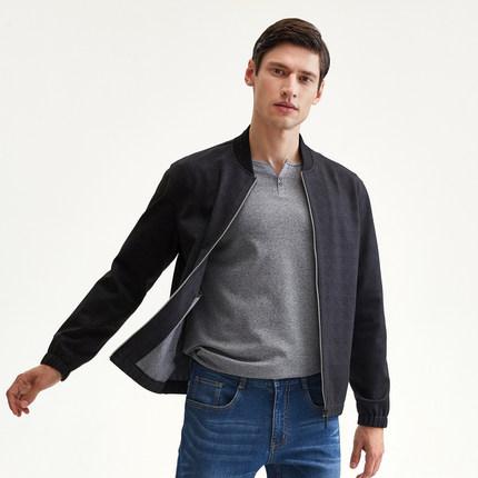 Seven7 Áo khoác nam thương hiệu Qi mùa thu và mùa đông mới kinh doanh áo khoác giản dị nam thời tran