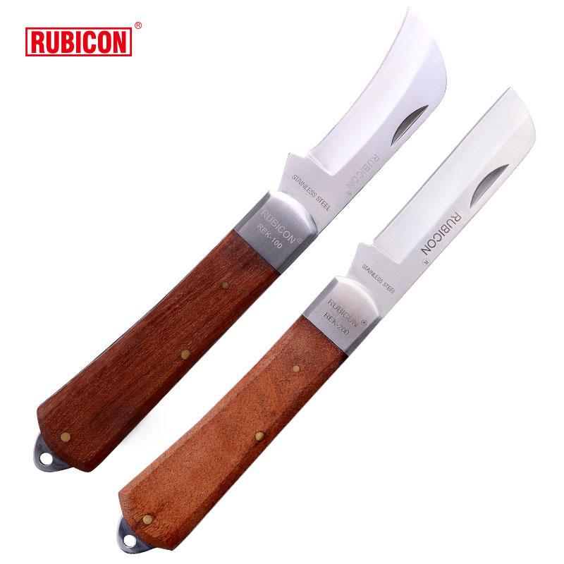 RUBICON Dao thợ điện Robin Hood Nhật Bản RUBICON REK-100 200 dao thép không gỉ lưỡi dao thẳng lưỡi d