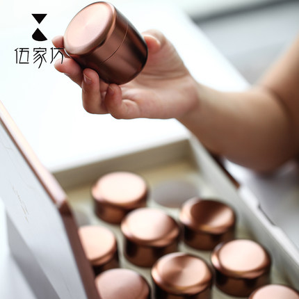 Wujia Hũ kim loại  Phường lon trà nhỏ lon du lịch cầm tay lon thiếc kim loại lon đơn giản niêm phong