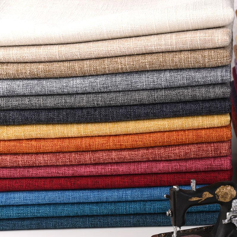 Vải Cotton pha Nhà máy trực tiếp sofa vải thô vải lanh màu cotton và vải lanh vải thủ công túi vải n