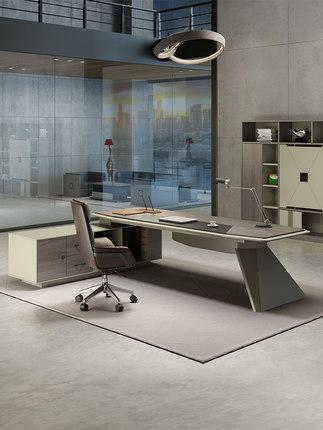Thị trường nội thất văn phòng  Bàn ghế văn phòng ông chủ bàn đơn giản hiện đại ánh sáng sang trọng g