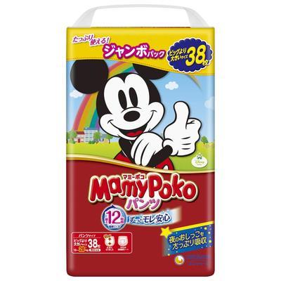 Mamy Poko Tả giấy Nhật Bản MamyPoko mẹ bé Mickey phiên bản quần pull-up cỡ XXL cỡ 38 miếng