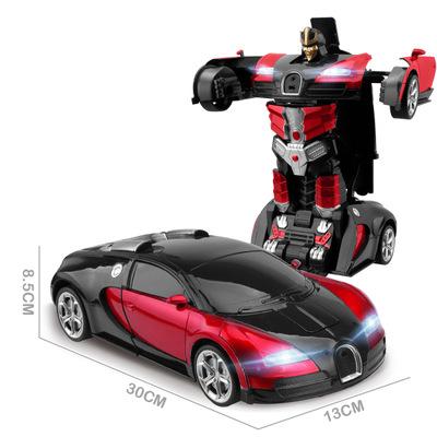 LEYOU Xe điều khiển từ xa Cử chỉ cảm ứng điều khiển từ xa xe Bugatti biến dạng cảm ứng robot Transfo